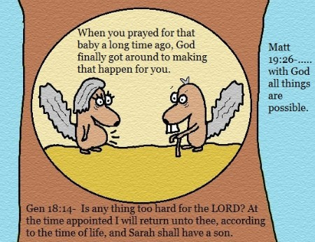 Genesis 18:14 Clipart Picture Abraham and Sarah Matthrew 19:26 With God all things are possible clipart picture