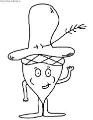 Acorn With Hat Clipart