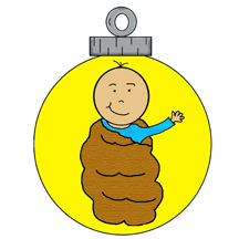 Baby Jesus Ornament Christmas Clipart