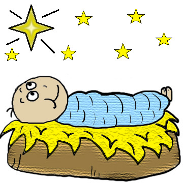 Baby Jesus in the manger clipart christmas clip art