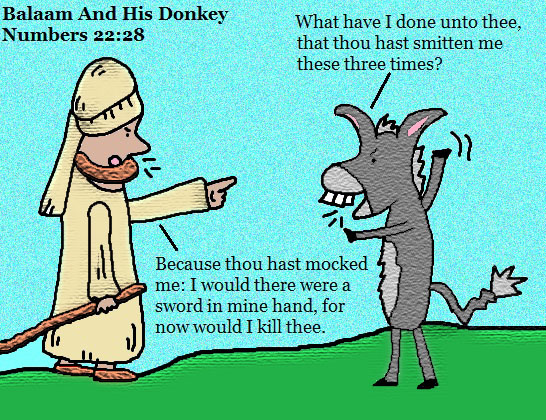 Balaam and his talking donkey