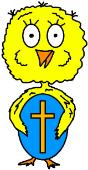 Easter Clipart Chick Holding Easter egg clip art