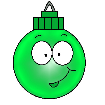 Christmas Ball Ornament Smiling Clipart Picture