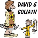 David and Goliath Clipart