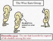Proverbs 15:31 clipart The ear that heareth reproof abides among the wise