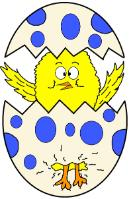 Chick In Egg Clipart- Easter Clipart