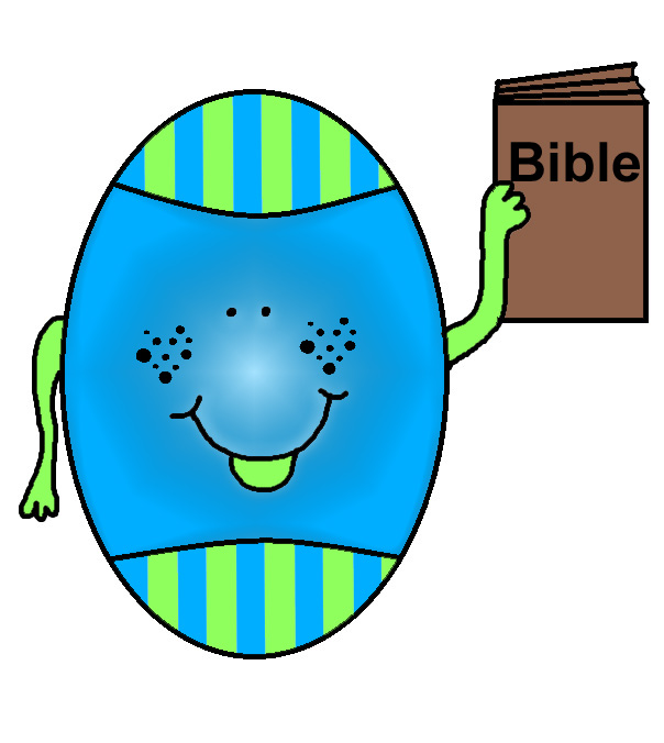 Easter Clipart - Easter egg with bible