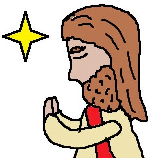 Jesus Praying Easter Clipart