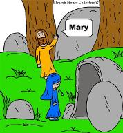 Easter Clipart Cartoon Images. Jesus and Mary At Tomb Easter Clipart by Church House Collection©