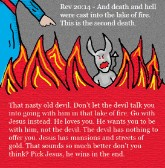 Revelation 20:14 Clipart Death and Hell Cast into lake of fire Picture