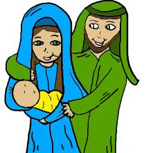 Christmas Clipart Mary Joseph Baby Jesus Clip Art Picture