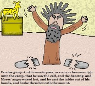 Exodus 32:19 Clipart Moses breaking ten commendments