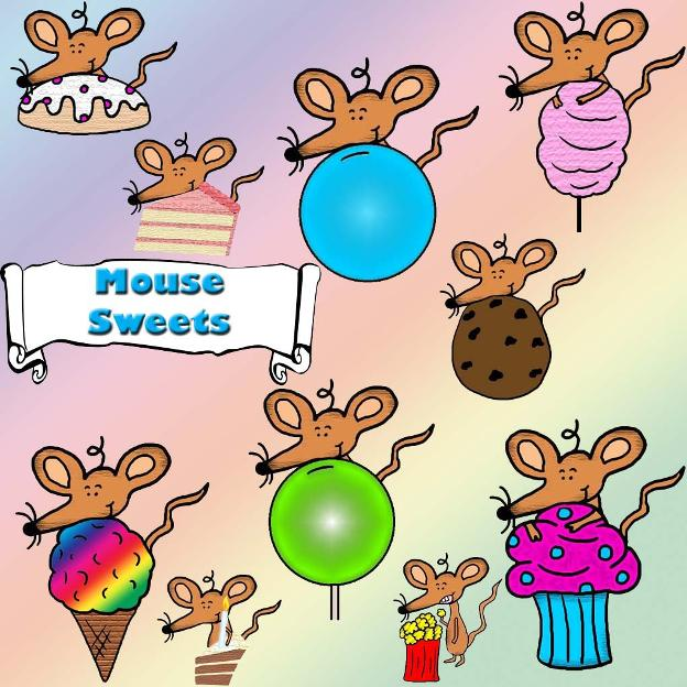 Mouse Sweets Clipart free personal use Cartoon pictures illustrations clip art colored sunday school mouse children's church printable template cut outs