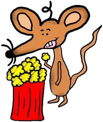 Mouse With Popcorn Clipart Illustration Drawing Picture Image Graphic Cartoon