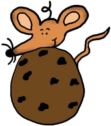 Mouse With Chocolate Chip Cookie Clipart Illustration Picture Image Graphic Drawing