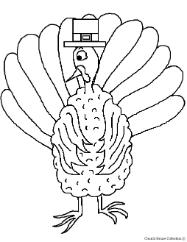 Pilgrim Turkey Clip Art Picture Image For Thanksgiving Bulletin Board