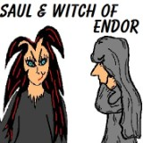 Saul and The Witch of Endor Clipart