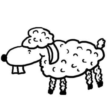 Sheep with buckteeth clipart