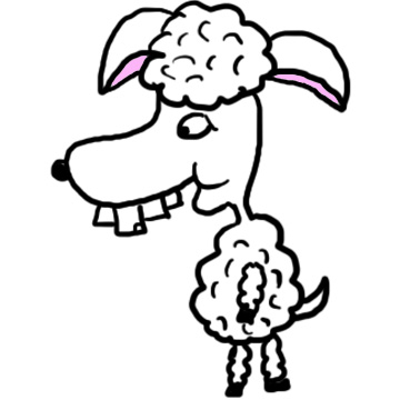 Funny Buckteeth sheep clipart