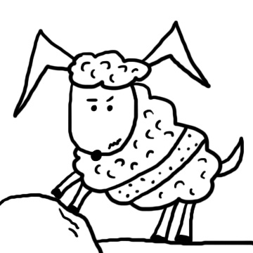 Shaved sheep clipart