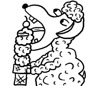 Sheep eating ice cream cone clipart