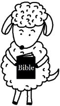 Easter Clipart Sheep Holding Bible Clipart