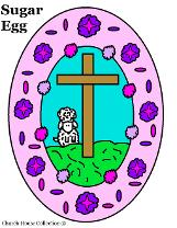 Easter Clipart - Sugar Egg sheep cross