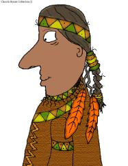 Thanksgiving Indian Clip Art Picture Image For Bulletin Board