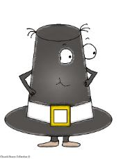 Thanksgiving Pilgrim Hat Clip Art Picture Image for Bulletin Boards