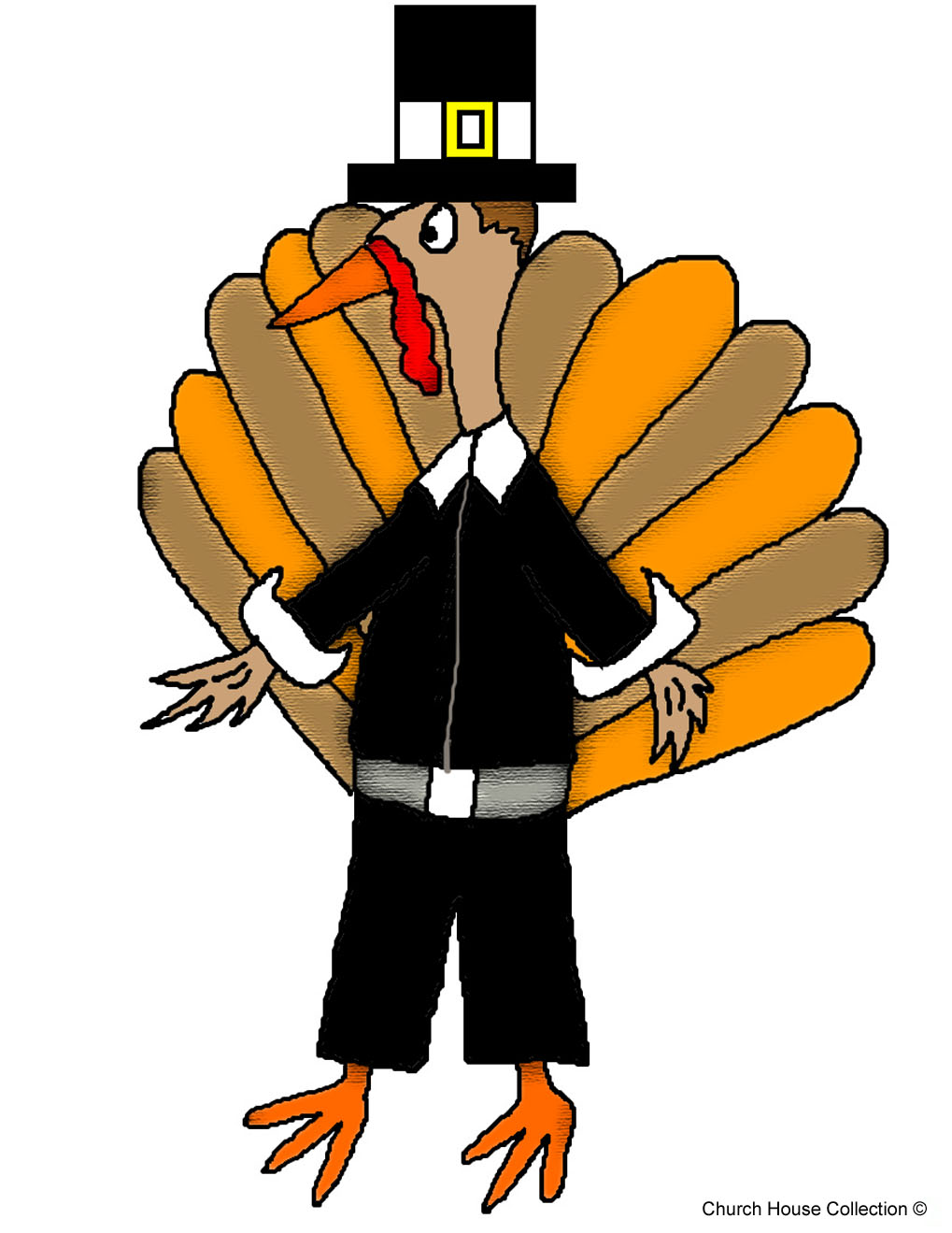 thanksgiving turkey clipart rh churchhouseclipart com Running Turkey Clip Art Color Crayons Clip Art