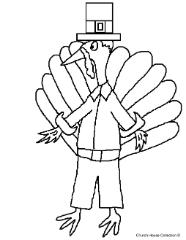Thanksgiving Pilgrim Turkey Clip Art Image Picture For Bulletin Board