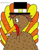 Turkey With Pilgrim Hat Thanksgiving Clipart picture for bulletin board