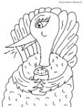 Turkey Drinking Hot Chocolate Clipart