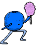 Blueberry Holding Cotton Candy Clipart Clip Art Image Cartoon Image Picture Illustration