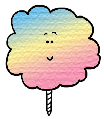 Cotton Candy Clip Art Clipart Picture Image Cartoon Illustration