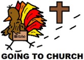 Thanksgiving Turkey Clipart-Turkey Going To Church Clipart