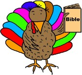 Thanksgiving Turkey Clipart- Tukey Holding Bible Clipart