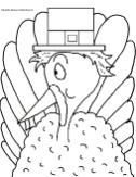 Thanksgiving pilgrim turkey clipart picture image for bulletin boards patterns