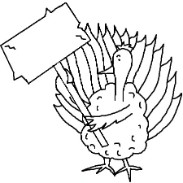 Turkey Holding sign clipart