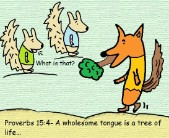 Proverbs 15:4 clipart a wholesome tongue is a tree of life